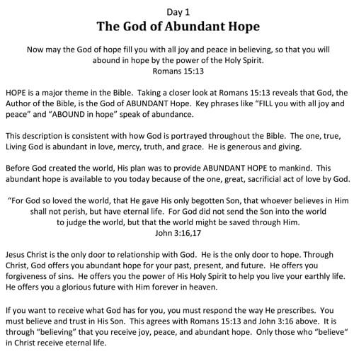 hope devotional free download